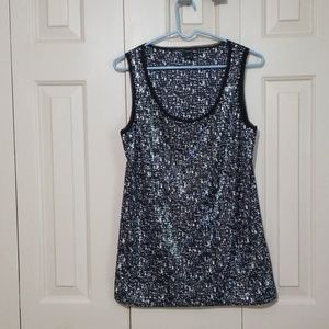 Ann Taylor Classy sequined tank top